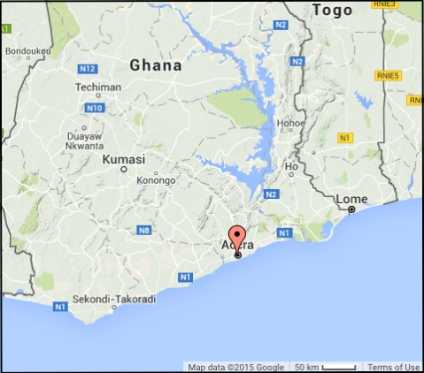 Accra, where the Ghana world tour audio data were collected